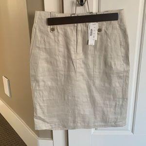 Linen 00 Jcrew pencil skirts NWT